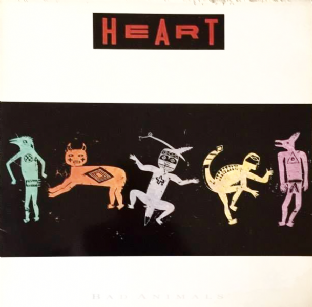 Heart ‎- Bad Animals (LP) (VG/G)